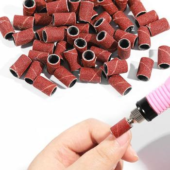 80 #120 #180 # elektryczna maszyna do paznokci wiertła do paznokci piaskowe paski do paznokci żel UV akrylowy zmywacz do paznokci do paznokci dodatki przybory tanie i dobre opinie ZXC46877 Akrylowe 80# 120# 180#