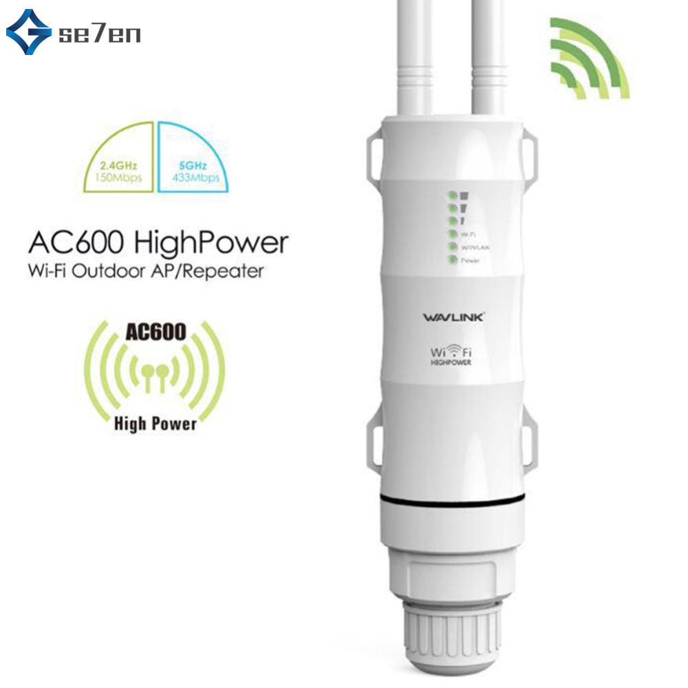 AC600 High Power Outdoor WIFI Router/Access Point/CPE/WISP Wireless Wifi Repeater Dual Dand 2.4/5Ghz 12dBi Antenna