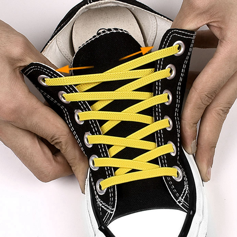 No Tie Shoe Laces Elastic Shoelaces Simple Convenient Quick Flat Shoe Lace Outdoor Fashion Leisure Sneakers Lazy Laces 1 Pair