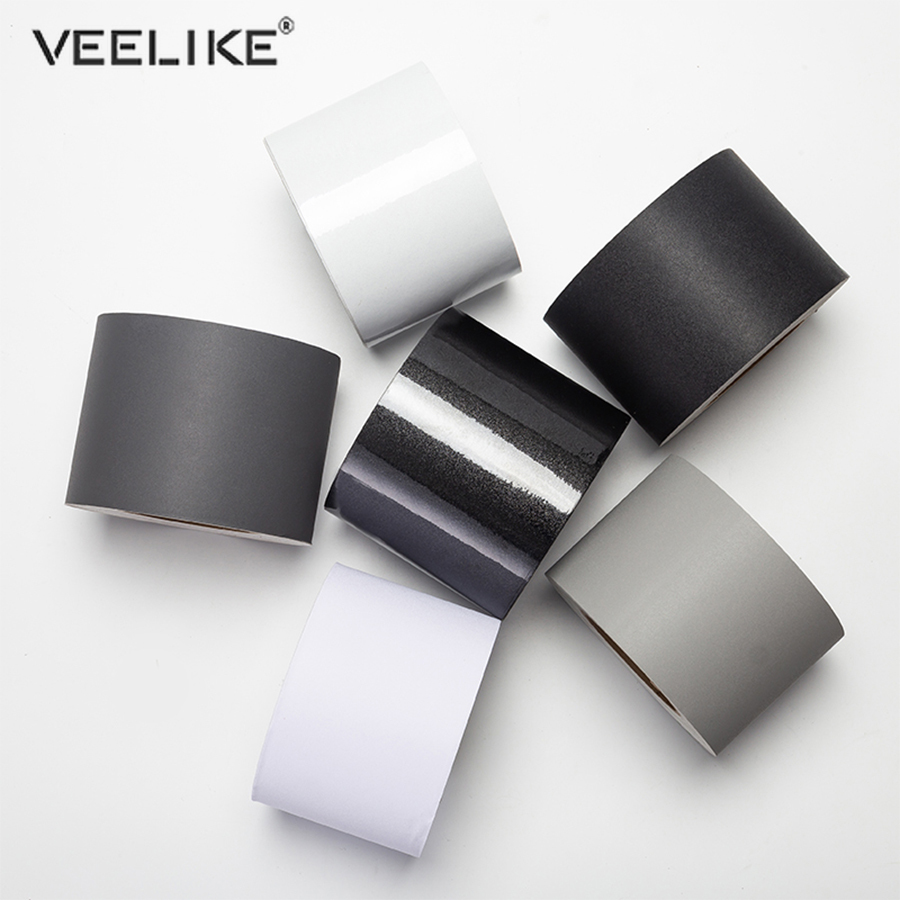 Pure Color Self Adhesive Window Decal For Living Room Floor Border Skirting Line Stickers Waterproof Waist Line Wallpaper Decor
