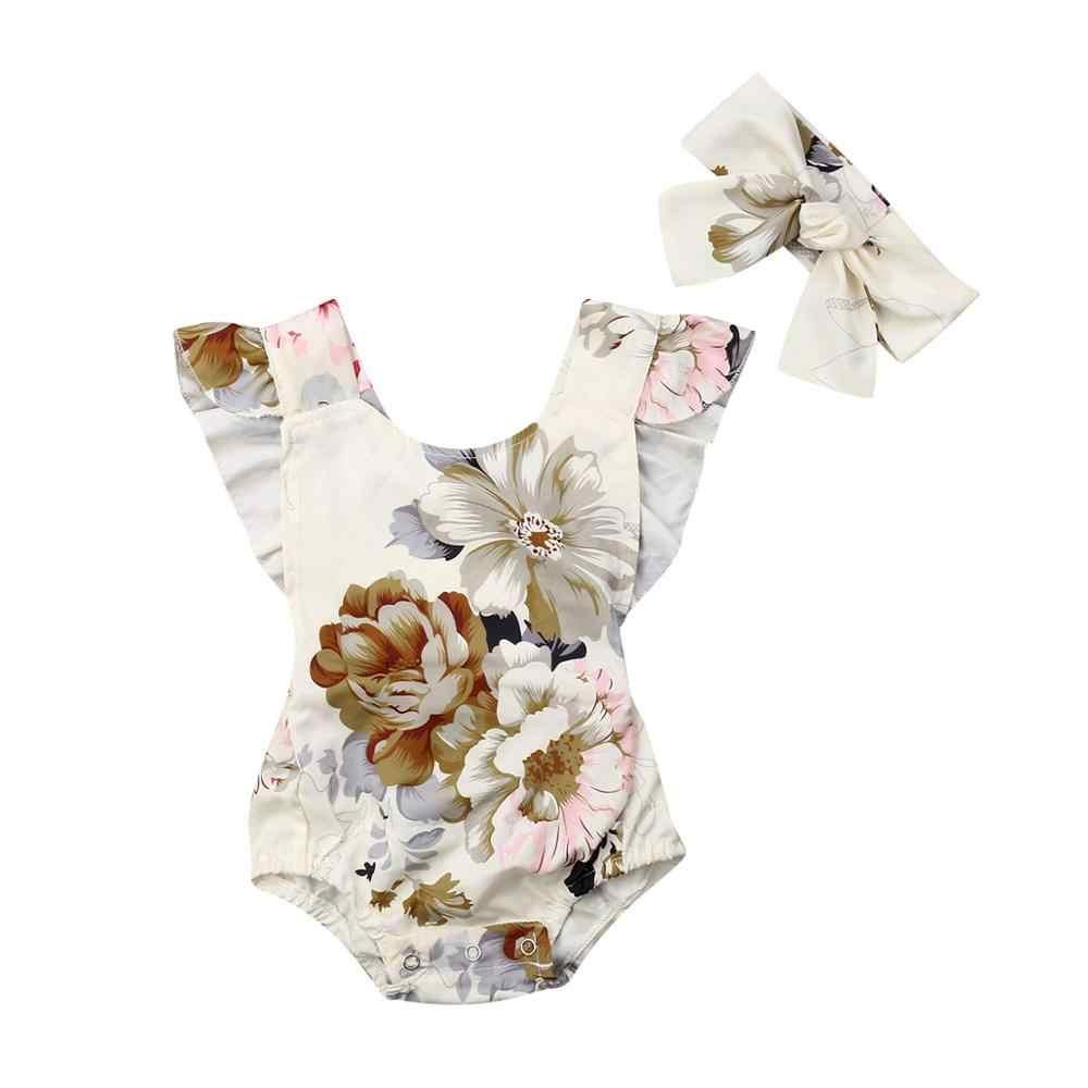 2019 ブランド新幼児子供女の赤ちゃんドレスノースリーブボタン V ネック花柄ボヘミアンサンドレス王女の夏のパーティードレス 6M-5Y