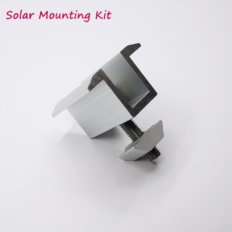 Solar Panel Brackets Mid Clamp For Solar Panle Mounting System On Roof Home Solar System Solar Mount Accessories
