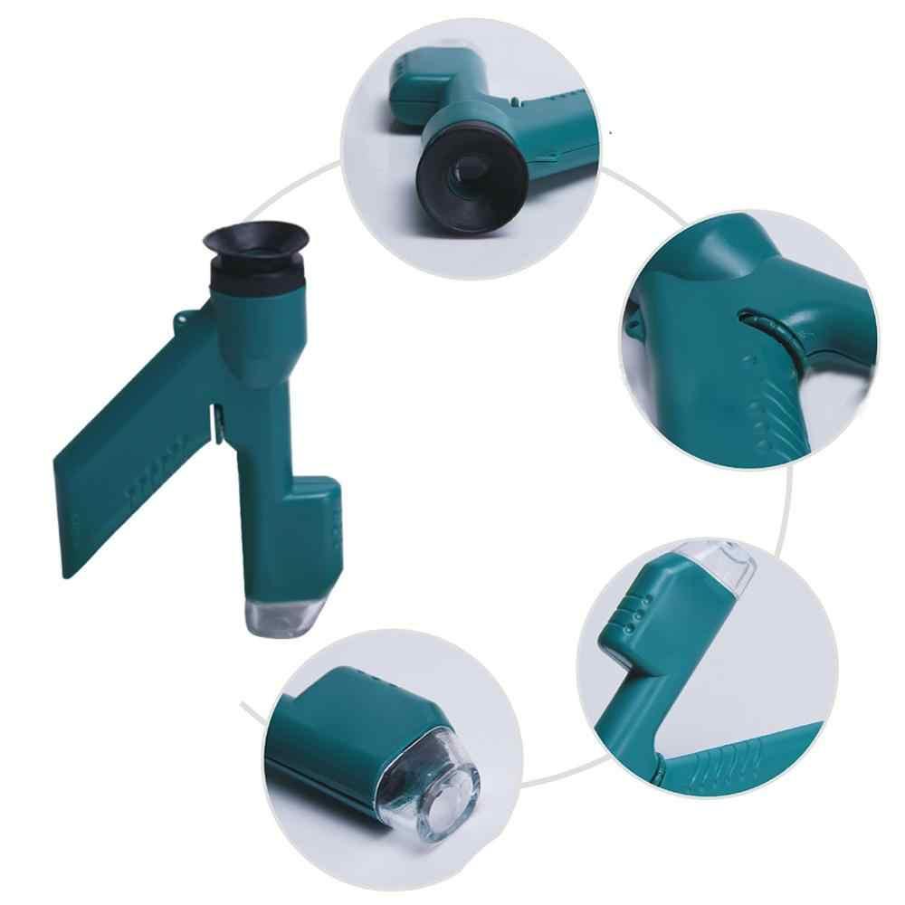 Ręczny 30X mikroskop kieszonkowy nowość Mini przenośne kreatywne zabawki dla studentów dzieci nauka eksperyment nauczania instrumentu
