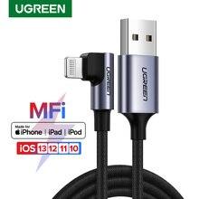 Ugreen mfi usb relâmpago cabo para iphone 12 mini pro max carga rápida cabo de dados para iphone x xr 11 8 cabo do carregador do telefone móvel