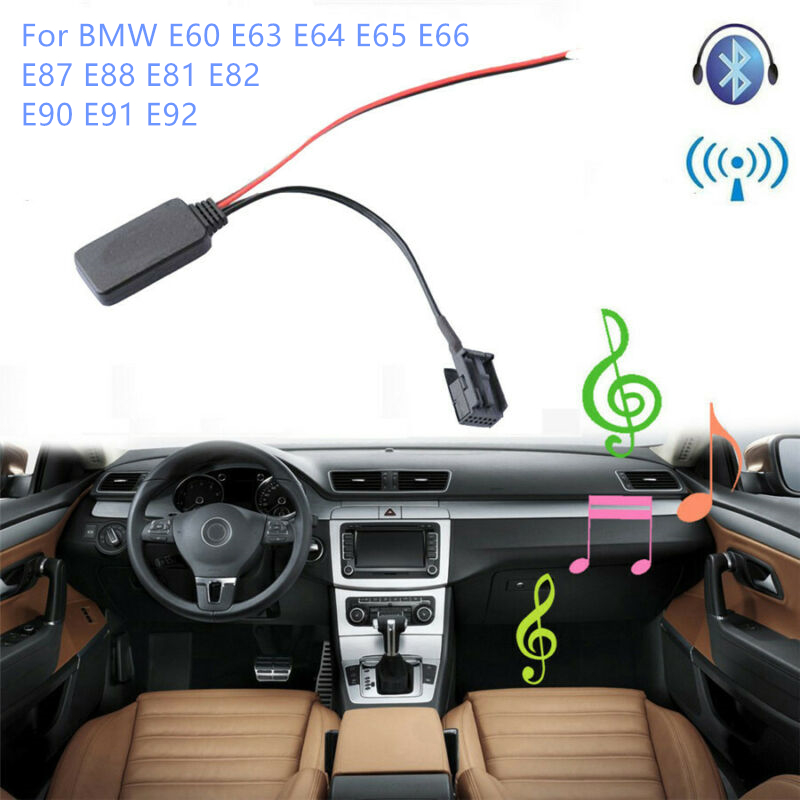 <font><b>Car</b></font> <font><b>Bluetooth</b></font> Receiver Module AUX-in Adapter 12-PIN For <font><b>BMW</b></font> E60 E63 E64 M6 E65 E66 E87 E88 E81 E82 E90 E91 E92 <font><b>Bluetooth</b></font> Adapter image