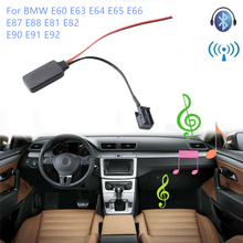 Car Bluetooth Receiver Module AUX-in Adapter 12-PIN For BMW E60 E63 E64 M6 E65 E66 E87 E88 E81 E82 E90 E91 E92