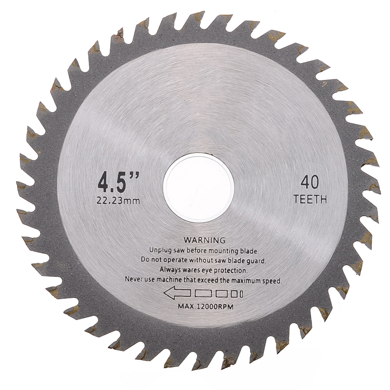 Hot Sale 1Pc Alloy Mill Chain Wheel Circular Saw Blade 40 Teeth 4.5 Inch 115mm For Angle Grinder Wood Carving Cutting Disc