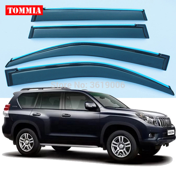 tommia Brand New For Toyota Prado 2010-2016 Window Visor Shade Vent Wind Rain Deflector Guards Cover 4pcs/Set