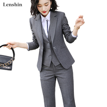 Lenshin Women Quality Suit Set Office Ladies Work Wear Women