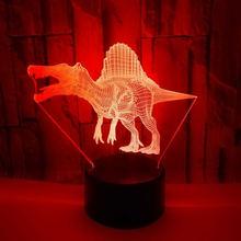 3d Динозавр трехмерный ночник для девочек креативный мультяшный