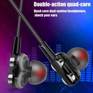 Image 2 - オリジナルヘッドフォン有線マイク 3.5 ミリメートルでインイヤーイヤホン音楽低音高品質有線携帯電話用ユニバーサル