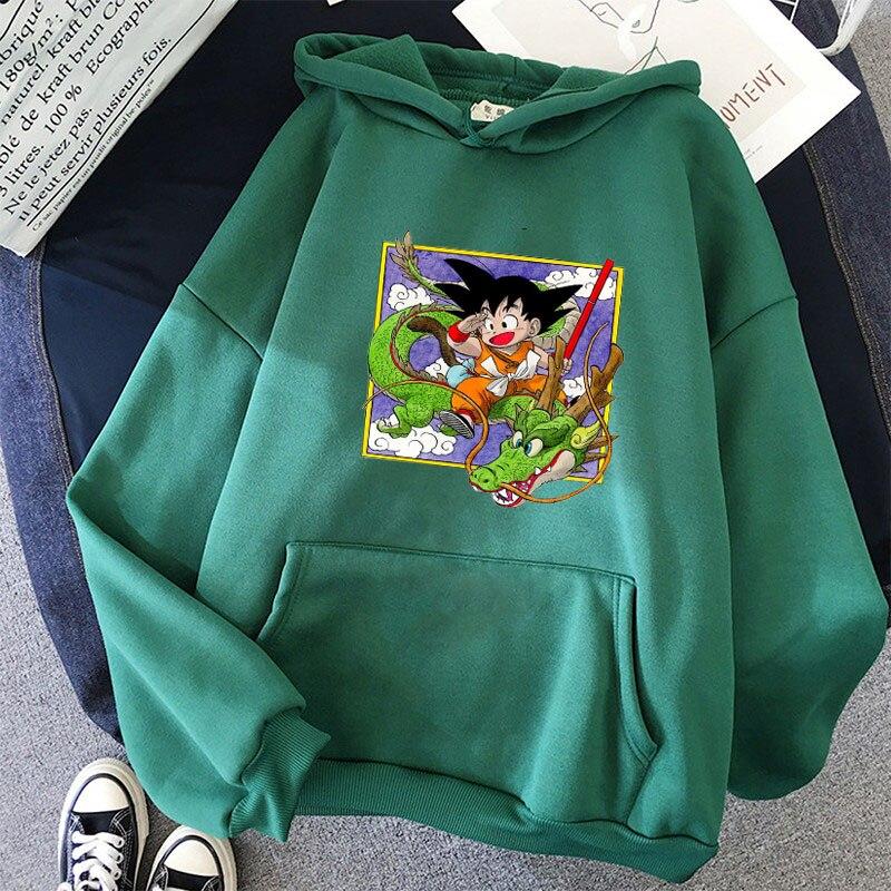 Japanese Anime Printed Hoodies 2021 Spring Autumn Long Sleeve Hoodie Women Cartoon Graphic Streetwear Sweatshirts Female Tops 18