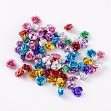 200pcs Aluminum Rose Flower Tiny Metal Beads DIY Jewelry Finding Necklaces Bracelets Making Handicrafts Supplies 6mm Mixed Color