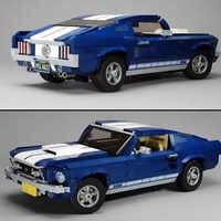 21047 Creator Guadato Mustanged Auto Classic American Muscle Car Da Corsa Del Veicolo di Costruzione Giocattoli dei Mattoni del Blocchetto Compatibile Con 10265