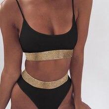 2021 New High Waist Swimming Suits for Bathing Suit Sexy Sequin Print Bikini Female Swimsuit Women Swimwear Push Up Bikinis Set