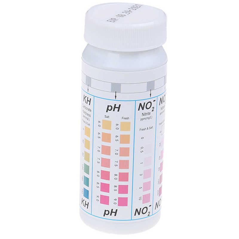 50 полосок 5 в 1 для бассейна спа тест-полоски для воды нитрат нитрит PH твердость