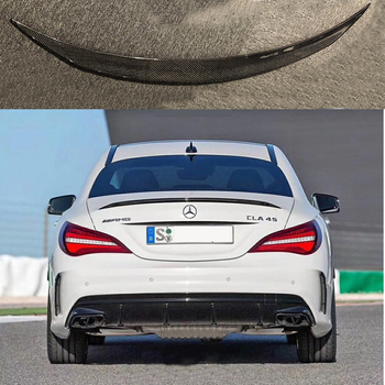 For Mercedes-Benz CLA W117 CLA180 CLA200 CLA250 CLA260 Carbon Fiber Rear Trunk Wing Spoiler CLA45 AMG Style 2014 - UP carbon fiber rear trunk wings m4 spoiler for bmw 4 series f36 420i 428i 435i gran coupe 4 door 2013 gloss black spoiler wing