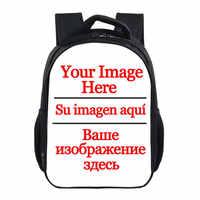 13 Inch Custom Your Image Logo Name Backpack Boys Girls Children School Bags Kids Book Bag Pokemon Backpack Small Backpack