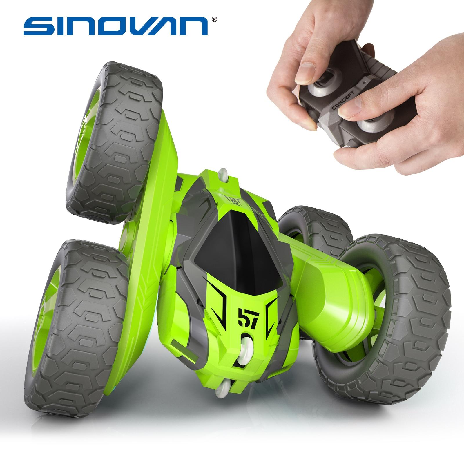 Sinovan RC трюк автомобиль 2,4G 4CH Дрифт деформации Багги ролл автомобиль флип 360 градусов вращающийся автомобиль модели дистанционного управлени...