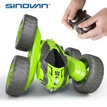 Sinovan rc dublê carro 2.4g 4ch deriva deformação buggy rolo carro flip 360 graus de rotação modelos veículo brinquedos controle remoto