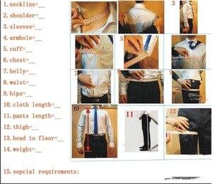 Image 5 - Fnoexw ที่กำหนดเอง 2019 เจ้าบ่าวสีแดง Tuxedos งานแต่งงานชุดสูทธุรกิจเจ้าบ่าวชุดบุรุษชุดแต่งงาน (แจ็คเก็ต + กางเกง + เสื้อกั๊ก + Tie)