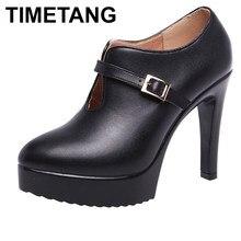 Timetang novo 2019 moda dedo do pé apontado boca profunda 11 cm stilettos preto plataforma bombas de salto alto das mulheres sapatos para senhoras dança
