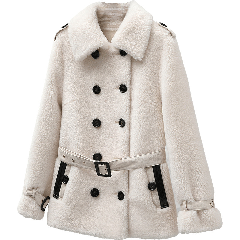 Real Fur Coat Wool Jacket Autumn Winter Coat Women Clothes 2020 Korean Streetwear Vintage Sheep Shearling Suede Lining ZT3445