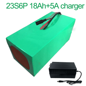 With 5A charger 84V 18Ah 23S6P 18650 Li-ion Battery electric two Three wheeled motorcycle bicycle ebike 210*170*140mm