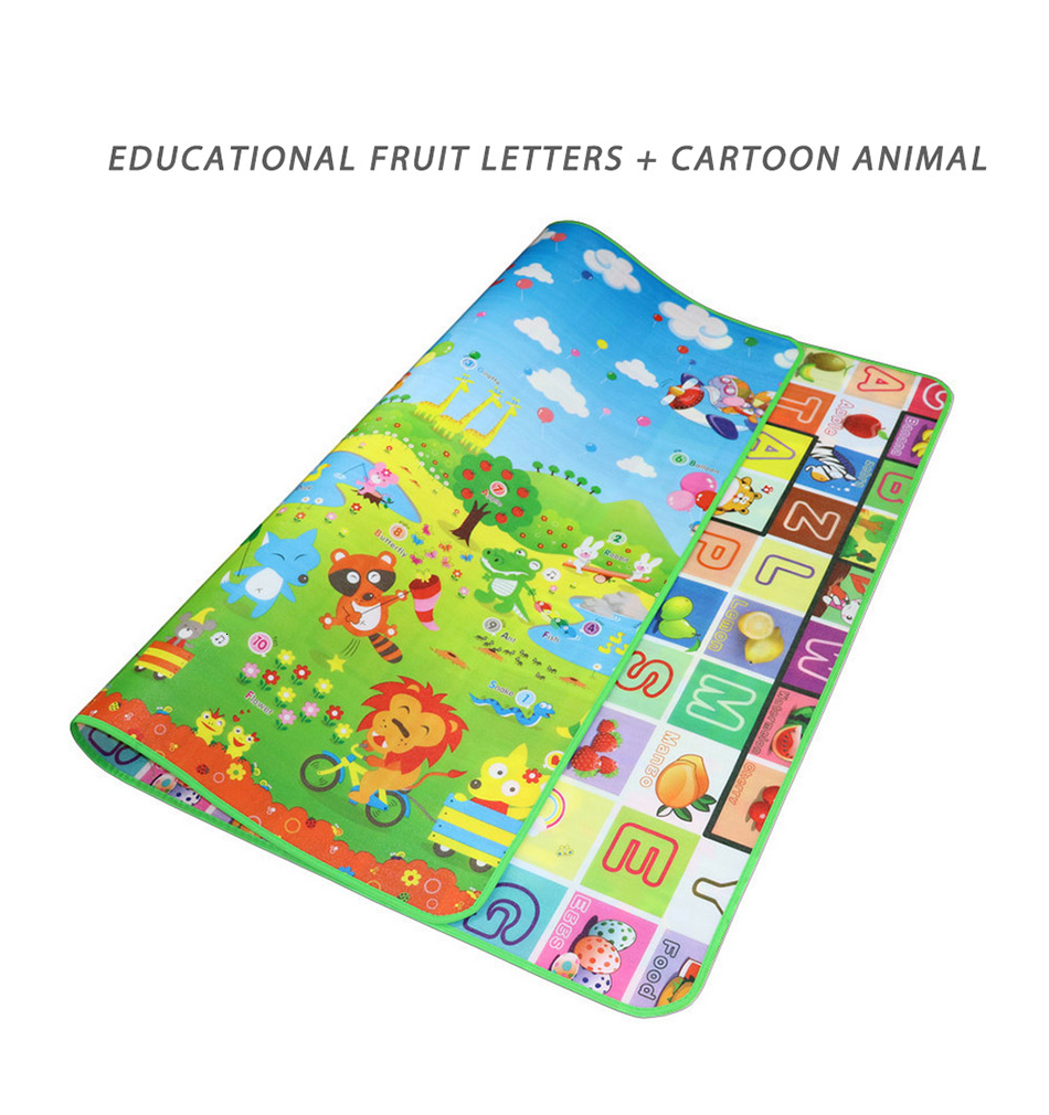 Hfd1597737df94ba5b3e32a8f2ef32efeK Baby Play Mat 0.5cm Thick Foldable Crawling Mat Double Surface Baby Carpet Rug Cartoon Developing Mat for Children Game Playmat