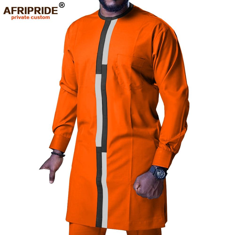 En`s Shirt Suit African Clothing Dashiki Pants Set Tribal Outfits Wax Attire Ankara Clothes 2 Piece AFRIPRIDE A1916068