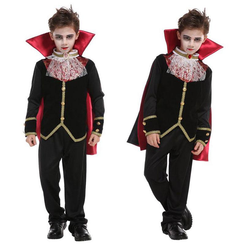 Umorden Boys Gothic Scary Vampira Vampire Costume Cosplay Kids Child Halloween Party Masquerade Mardi Gras Fancy Dress B-0153