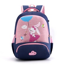 New Arrival Cartoon Rabbit and Fox Pattern School Backpack Primary Students Bags Nylon Breathable Book Bags activate a2 students book and active book pack