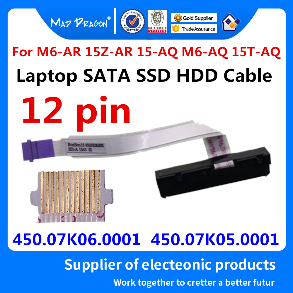 New SATA SSD HDD hard drive Cable for HP HP M6-AR 15Z-AR 15-AQ M6-AQ 15T-AQ ENVY X360 m6-AQ003DX 450.07K06.0001 450.07K05.000(China)