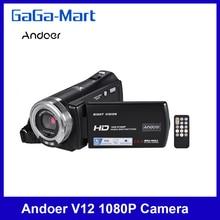 Andoer V12 1080P Volle HD 16X Digital Zoom Aufnahme Video Kamera 3,0 Zoll Nachtsicht Gesicht Erkennung Gesicht Verschönerung