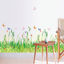 New Wall Stickers Grass Type Removable Art Vinyl Decal Mural Home Room Decoration(China)