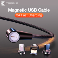 Cafele Fast Magnetic Charging Cable Micro USB Type C Cable for iPhone QC3.0 Newest L type Magnet Charger Cord Wires Adapter