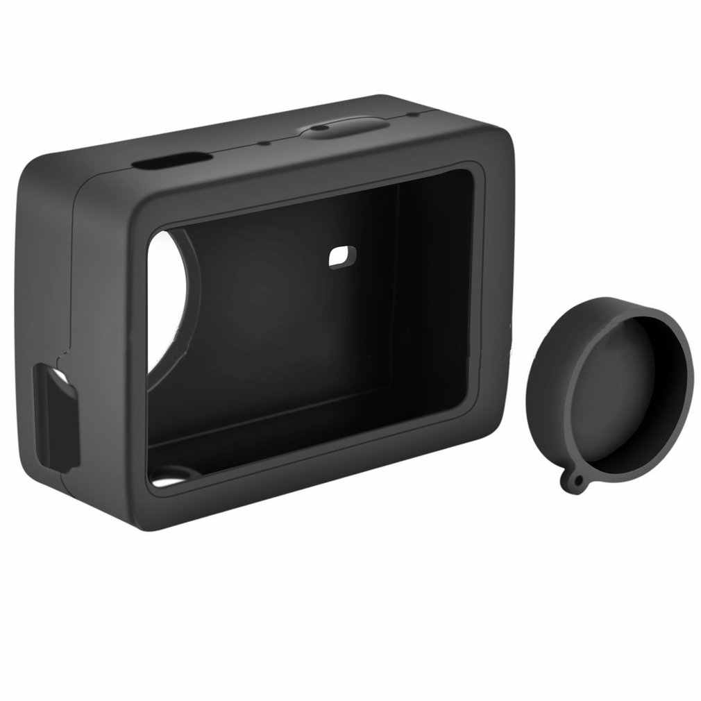 Ochronna silikonowa obudowa + obiektyw etui na xiaomi YI 4K Plus Lite obudowa ochronna pokrywa dla XIAOYI 4K akcesoria do kamer w ruchu