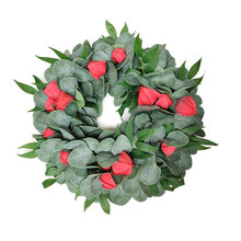 Christmas Decoration Artificial Green Leaves Wreath Front Door Wreath Artificial Flower Wreath For Wall Window Door Party Decor цена и фото