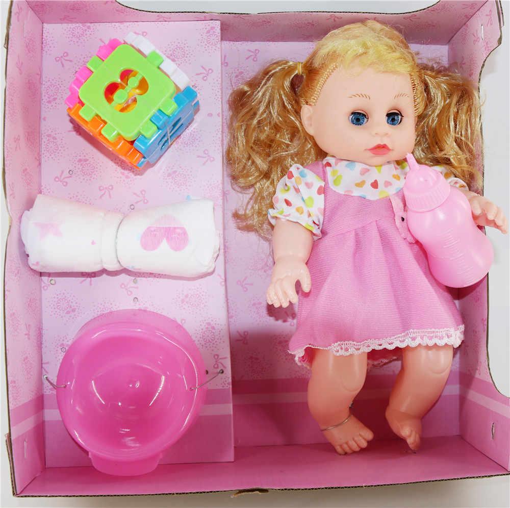 32 ซม.ตุ๊กตาเด็กทารก Reborn ตุ๊กตา bathetoys เครื่องดื่มนมและฉี่ Poop talking ไวนิลซิลิโคน Reborn ตุ๊กตาเด็กของขวัญ bebe reborn