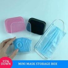 5/10 pces mini portátil à prova de poeira à prova de umidade máscara caixa de armazenamento caso medicina caixa de armazenamento band-aid bill caso de armazenamento temporário