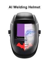 Rstar AI speech recognition big Window Auto Darkening Welding Helmet TIG MIG MMA Welding Mask Helmet with Charging function