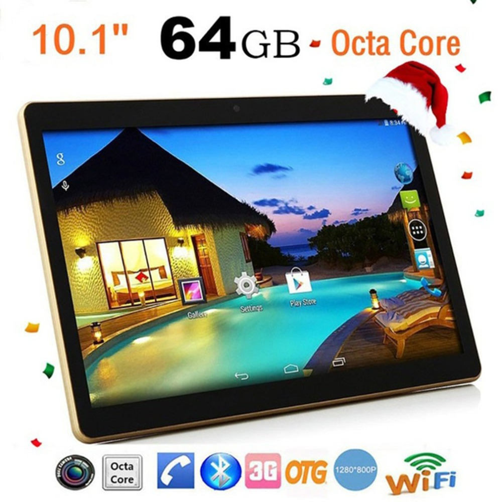 Tablet PC 10.1 Inch  RAM 4G ROM 64G Dual Card Dual Standby Dual Camera Bluetooth 4.0 Phone Wifi Tablet For Android 6.0 New