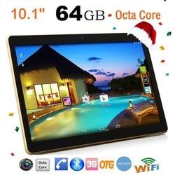 Tablet PC 10.1 Inch RAM 4G ROM 64G Dual-kaart Dual Standby Dual Camera Bluetooth 4.0 Telefoon Wifi tablet Voor Android 6.0 Nieuwe