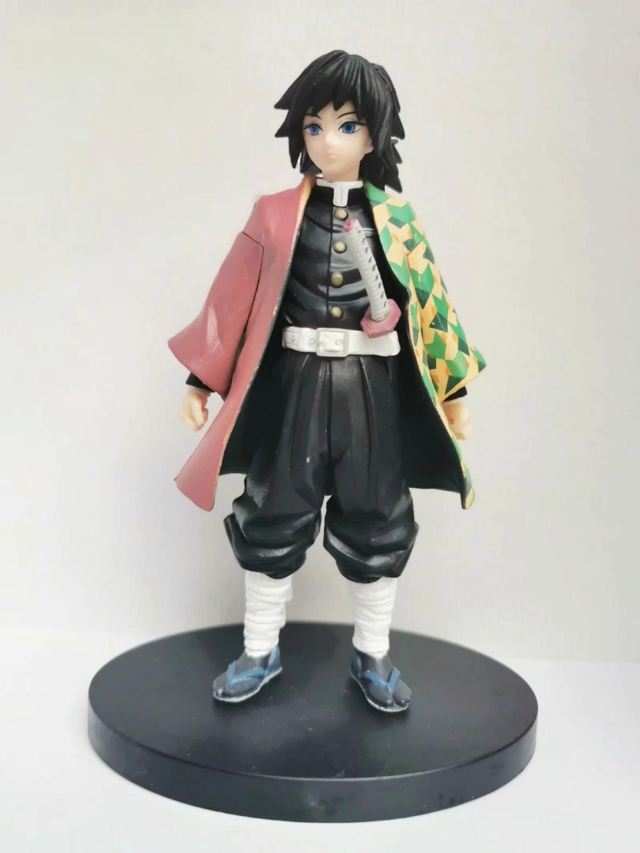 Kimetsu no Yaiba Figure Tanjirou Tomioka Giyuu Black Clothes PVC Model Toy Demon Slayer Action Figures Anime Brinquedos Toys 1