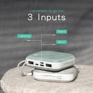 Image 3 - Banco de energía Delgado cargador portátil 10000 mah Mini banco de energía recargable para teléfono móvil para Iphone12 para reloj