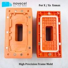 Frame holding molde para iphone 11 pro max x xs xsmax lcd moldura de vidro posição magnética e estratificação dispositivo elétrico reparo do telefone móvel