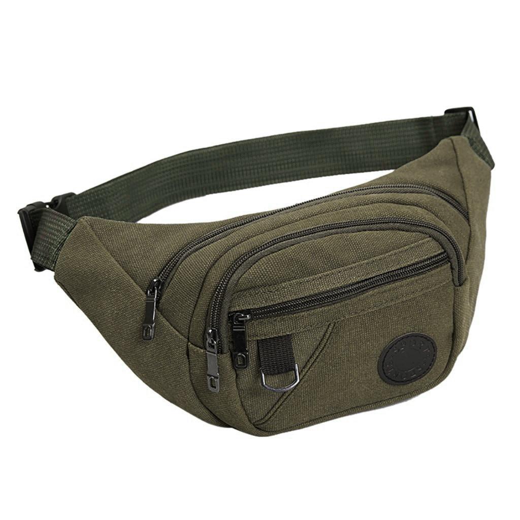 Waterproof Zipper Waist Bag Women Belt Bag Canvas Chest Bags Handbag Beltbag Streetwear Fanny Pack For Women Purses Heuptas