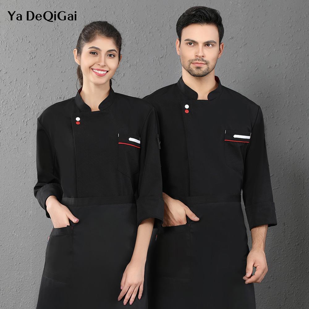 Long Sleeve Hotel Kitchen Chef Uniform Restaurant Cooking Workwear Shirt Catering Cooker Shirt Chef Work Clothes Coats Wholesale