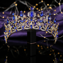 Tiaras and Crown HADIYANA Vintage Temperament Cubic Zircon Women Wedding Party Gift Hair Accessories BCY8899 Corona Princesa