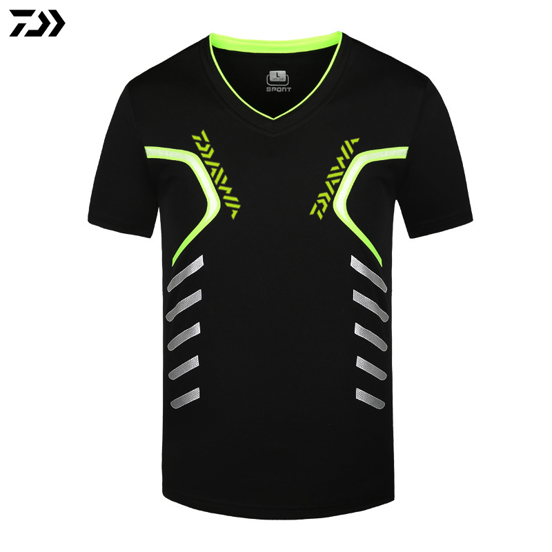 Clothes S~5XL Men Quick Drying Fishing Clothing T Shirt Ultrathin Short Sleeve Sunscreen Anti-UV Breathable Fishing TShirt